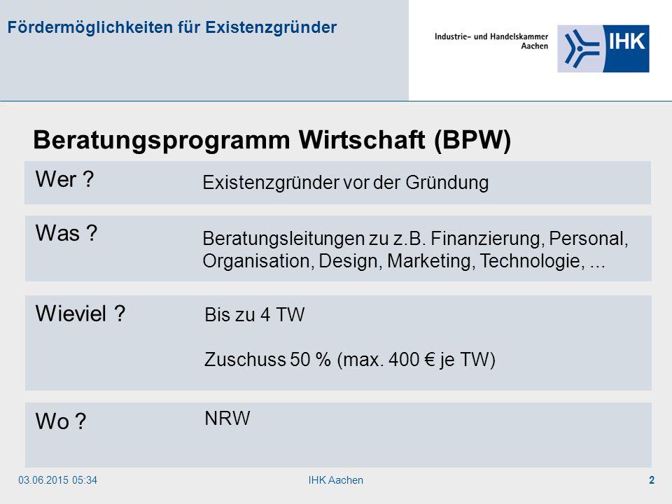 Beratungsprogramm Wirtschaft (BPW)