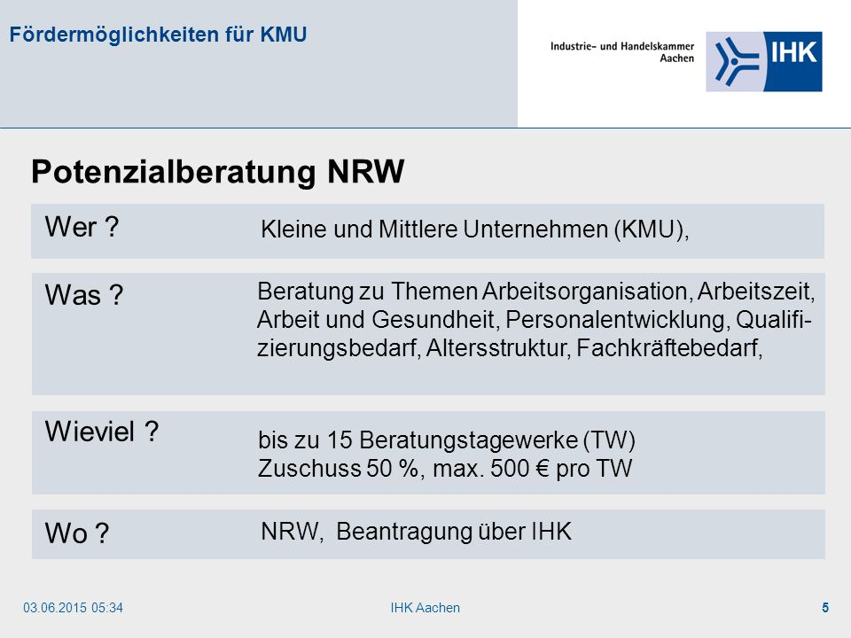 Potenzialberatung NRW