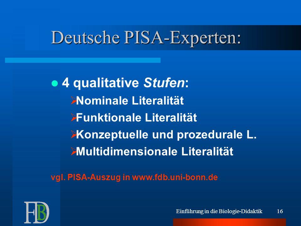 Deutsche PISA-Experten: