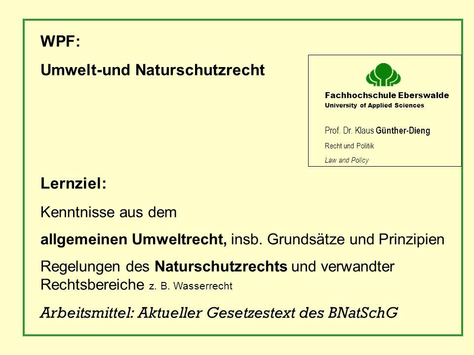 Umwelt-und Naturschutzrecht
