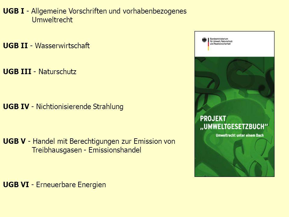 UGB I - Allgemeine Vorschriften und vorhabenbezogenes Umweltrecht
