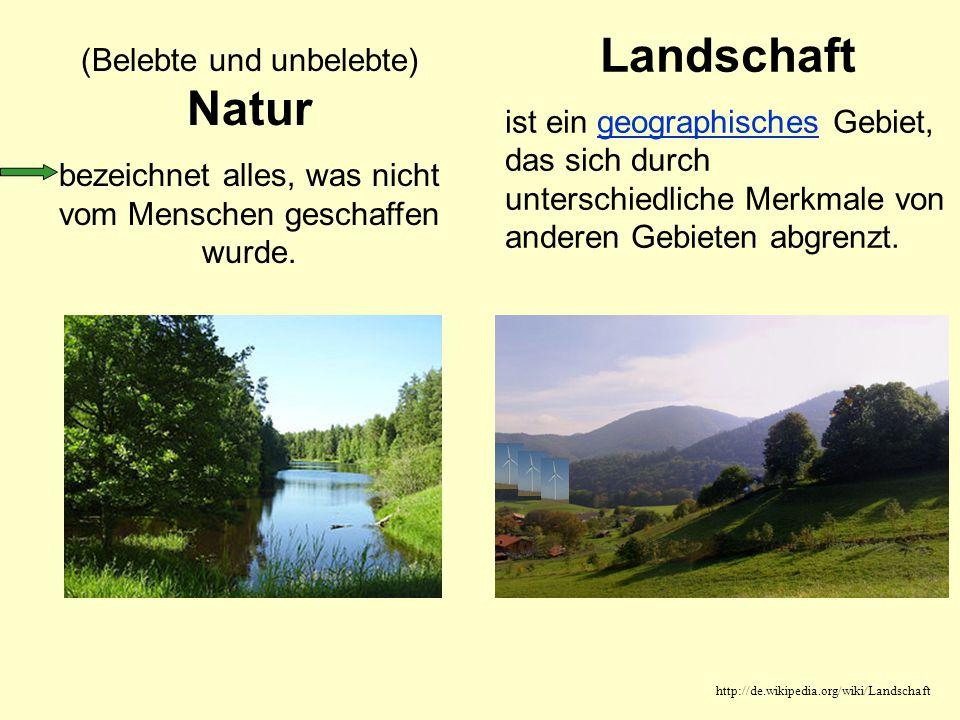 Landschaft (Belebte und unbelebte) Natur