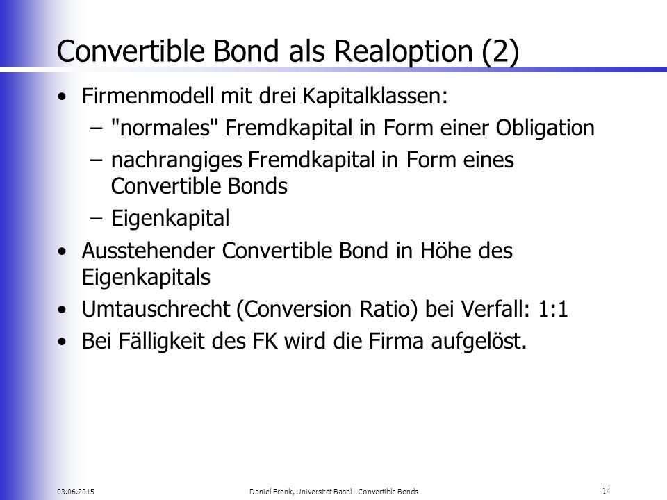 Convertible Bond als Realoption (2)