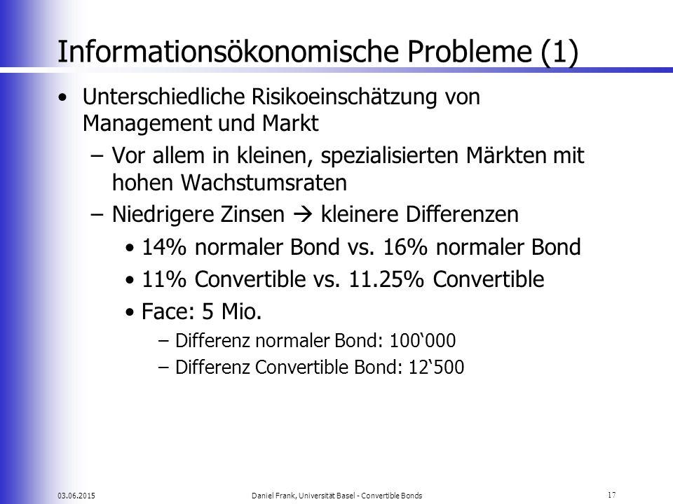 Informationsökonomische Probleme (1)