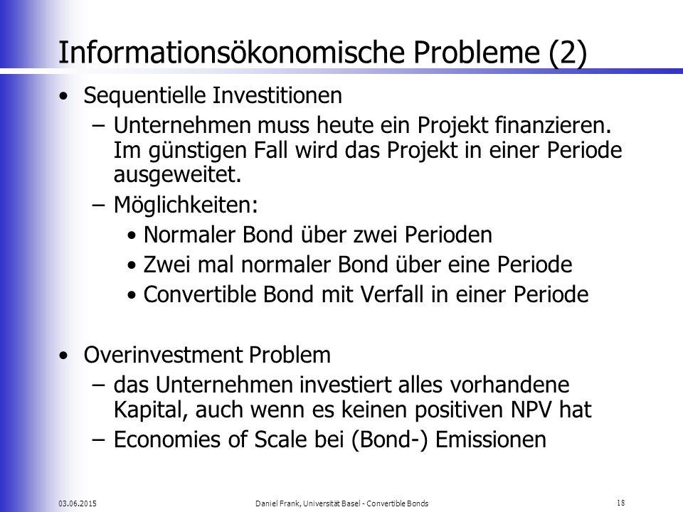 Informationsökonomische Probleme (2)