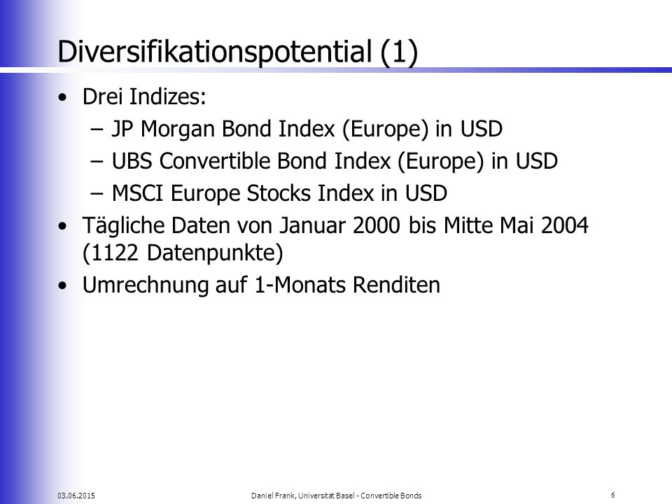 Diversifikationspotential (1)