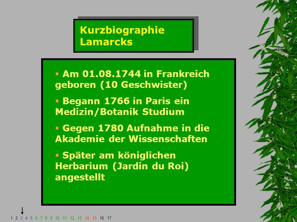 Kurzbiographie Lamarcks