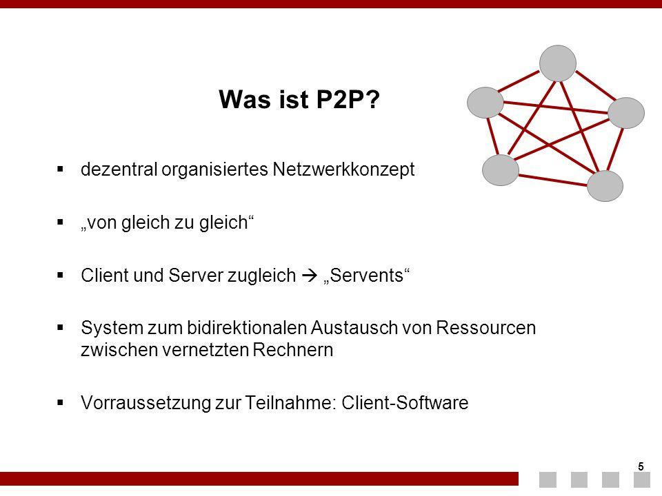 Was ist P2P dezentral organisiertes Netzwerkkonzept