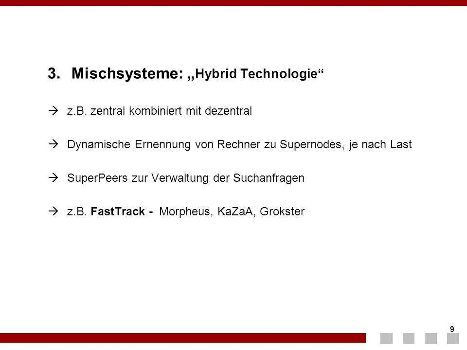 """3. Mischsysteme: """"Hybrid Technologie"""