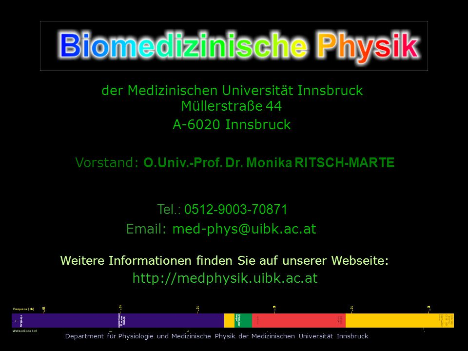 Vorstand: O.Univ.-Prof. Dr. Monika RITSCH-MARTE