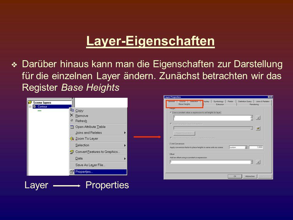 Layer-Eigenschaften