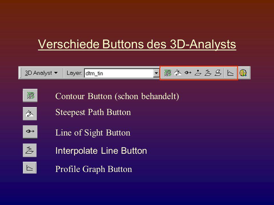 Verschiede Buttons des 3D-Analysts