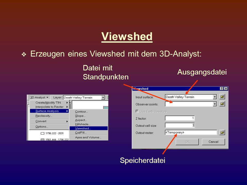 Viewshed Erzeugen eines Viewshed mit dem 3D-Analyst: Datei mit