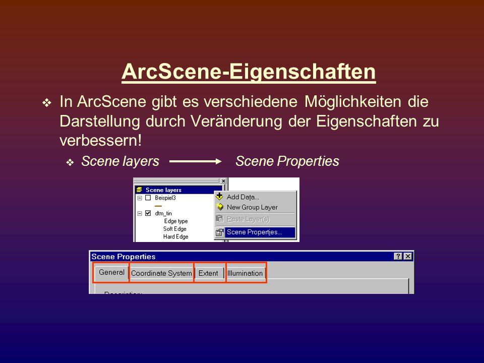ArcScene-Eigenschaften
