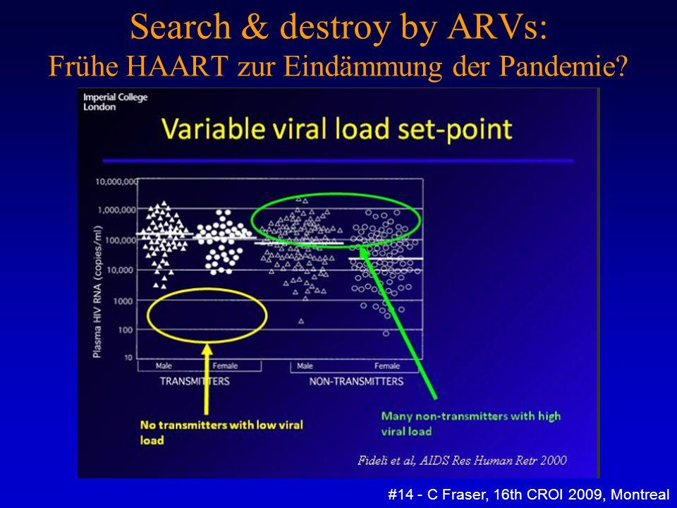 Search & destroy by ARVs: Frühe HAART zur Eindämmung der Pandemie