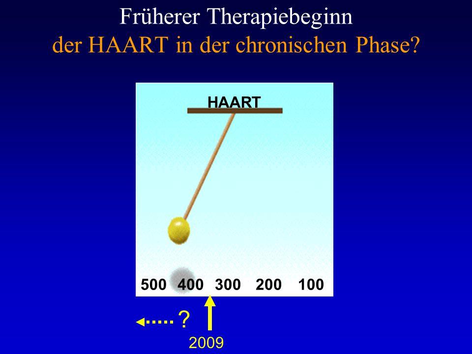 Früherer Therapiebeginn der HAART in der chronischen Phase
