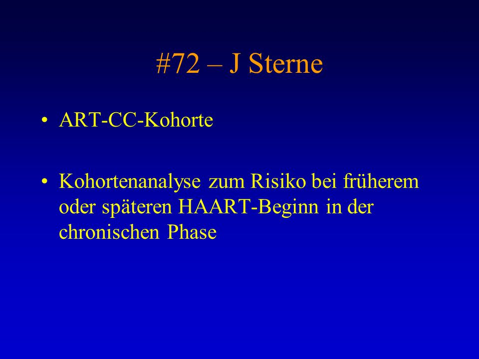 #72 – J Sterne ART-CC-Kohorte