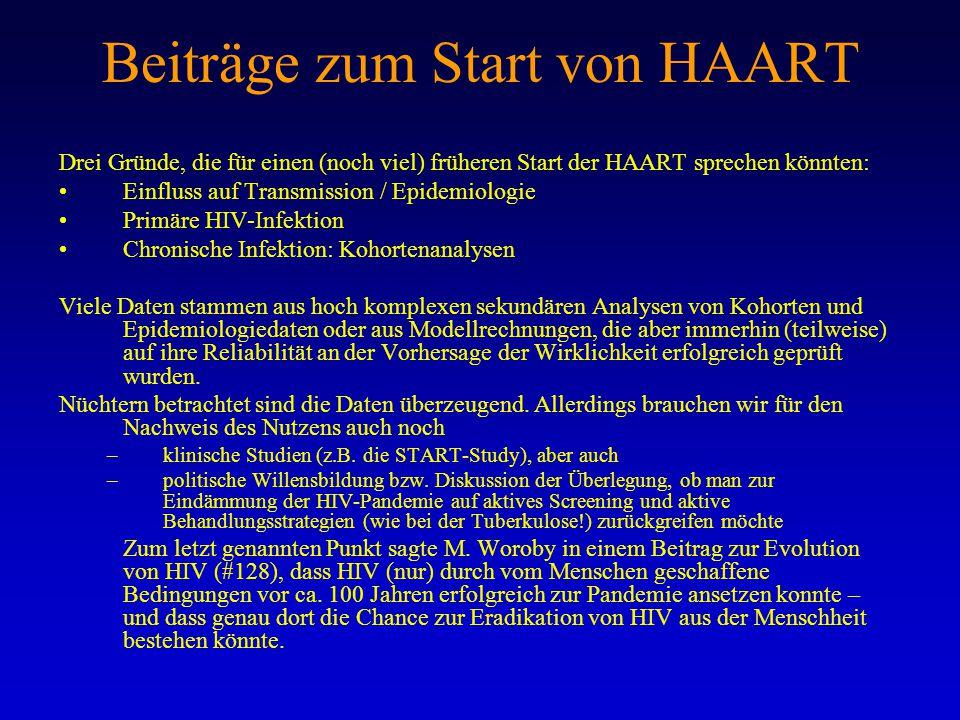 Beiträge zum Start von HAART