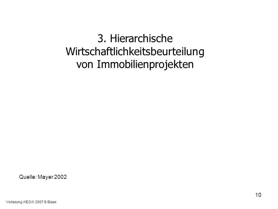 3. Hierarchische Wirtschaftlichkeitsbeurteilung