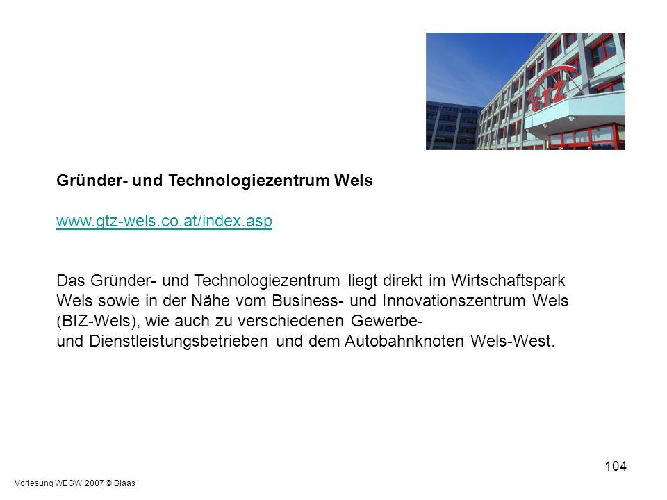 Gründer- und Technologiezentrum Wels www.gtz-wels.co.at/index.asp