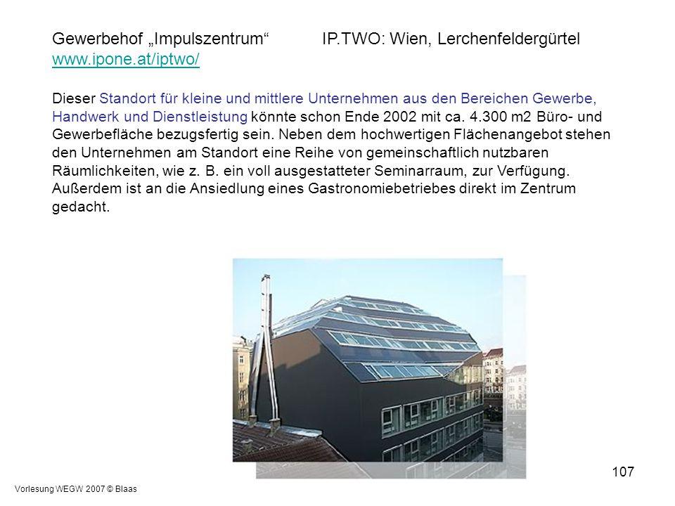 "Gewerbehof ""Impulszentrum IP.TWO: Wien, Lerchenfeldergürtel"