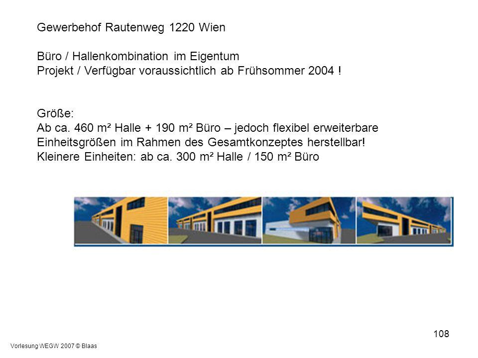 Gewerbehof Rautenweg 1220 Wien