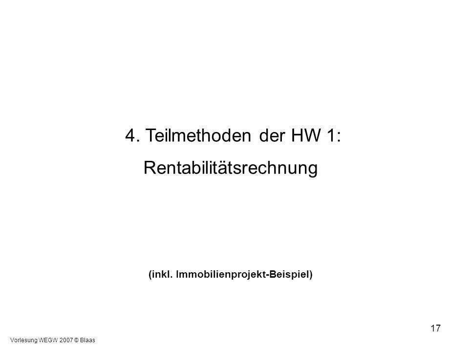 4. Teilmethoden der HW 1: Rentabilitätsrechnung (inkl