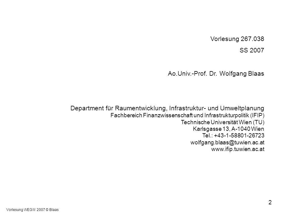 Ao.Univ.-Prof. Dr. Wolfgang Blaas