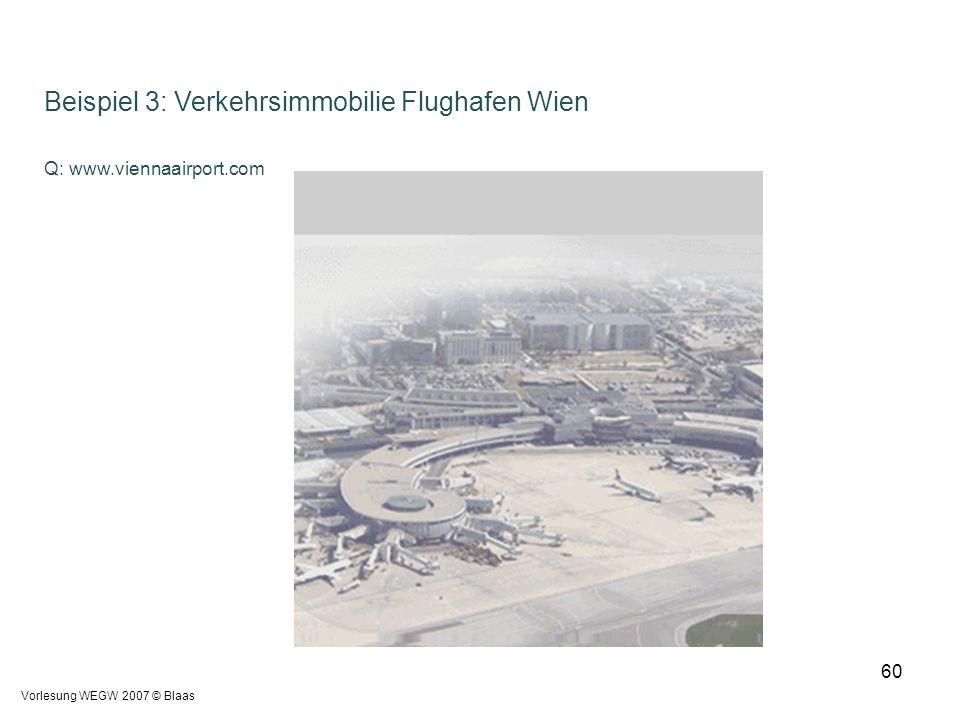 Beispiel 3: Verkehrsimmobilie Flughafen Wien