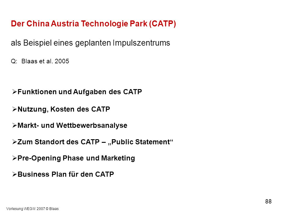 Der China Austria Technologie Park (CATP)