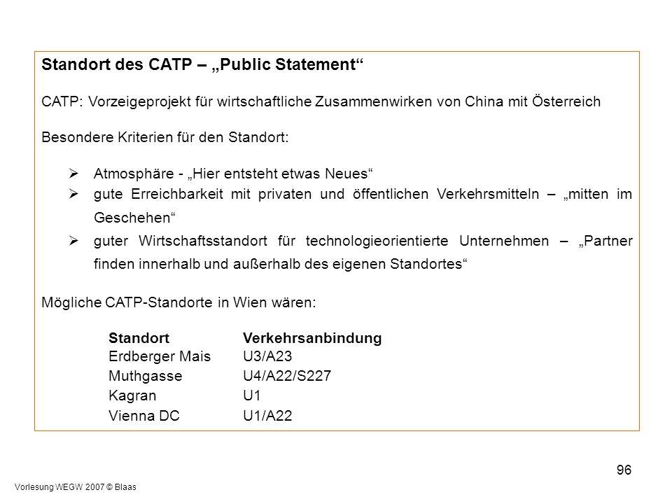 """Standort des CATP – """"Public Statement"""