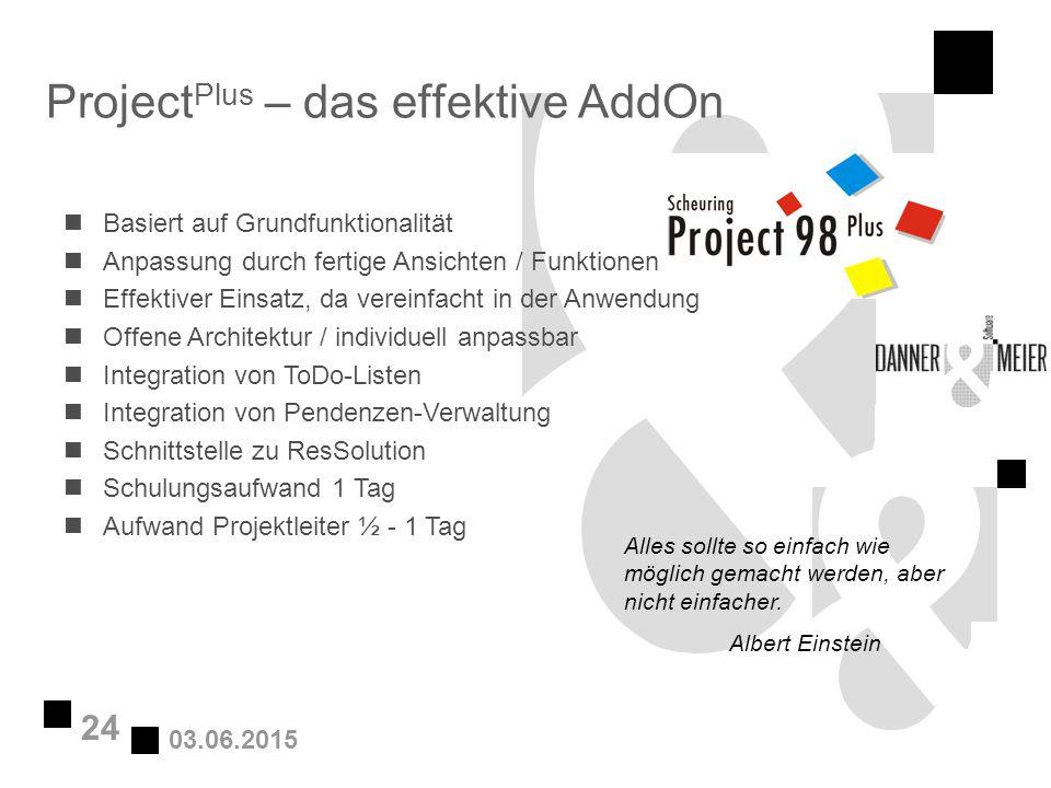 ProjectPlus – das effektive AddOn