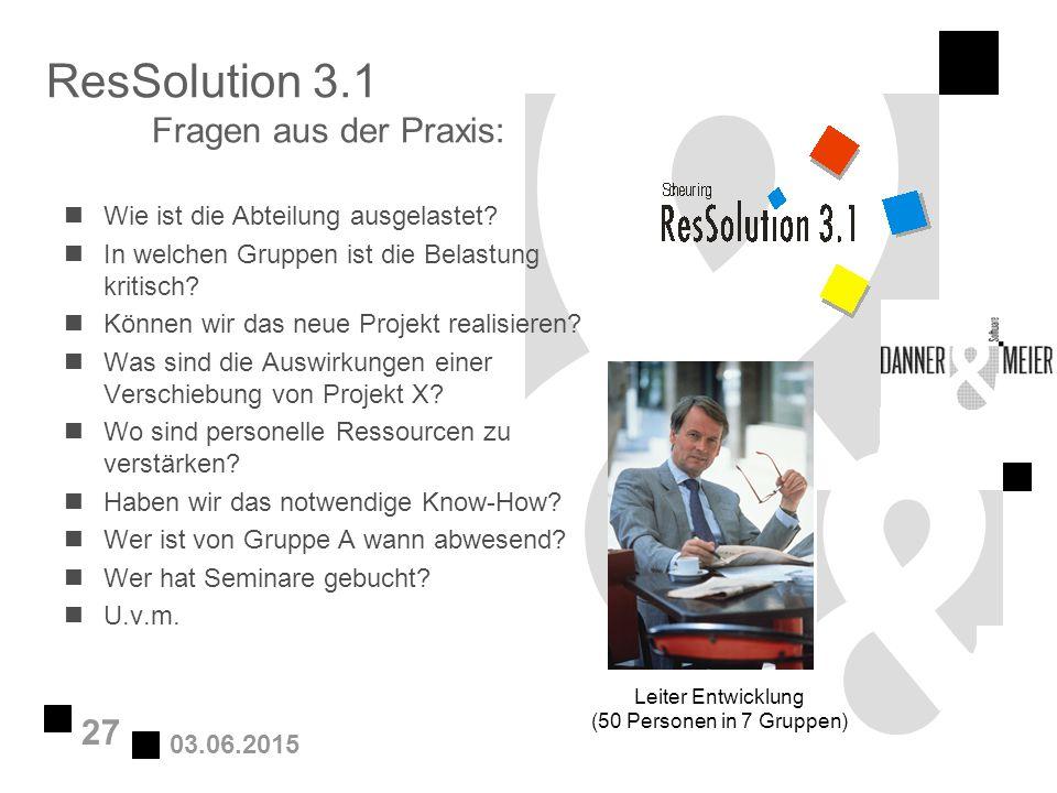 ResSolution 3.1 Fragen aus der Praxis: