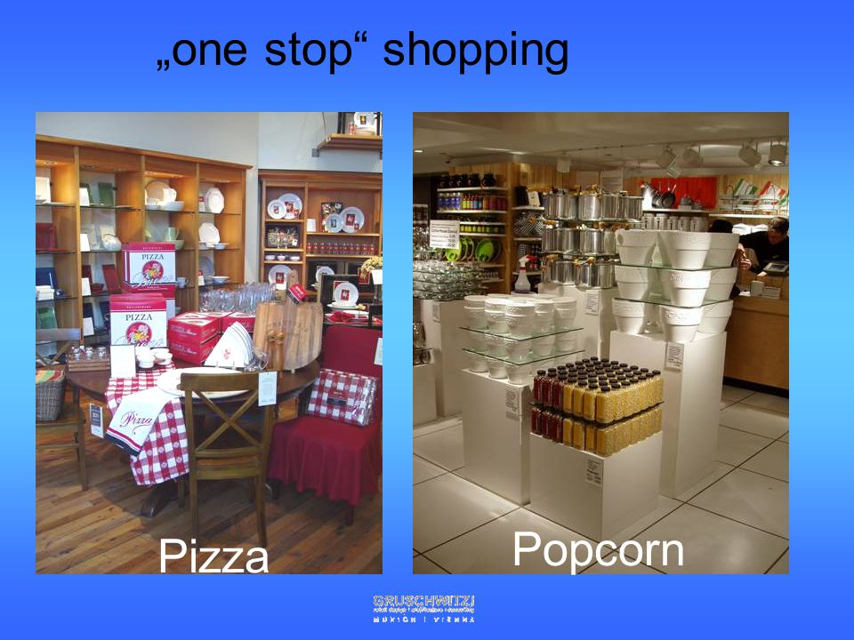 """one stop shopping Popcorn Pizza"