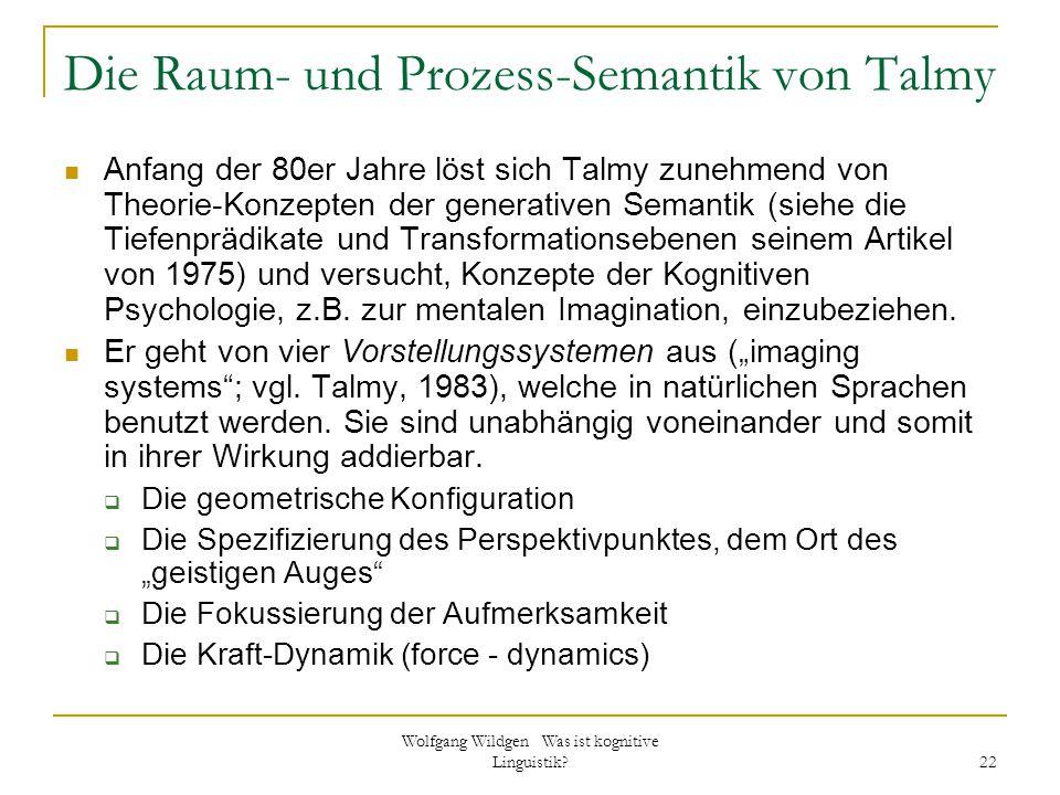 Die Raum- und Prozess-Semantik von Talmy