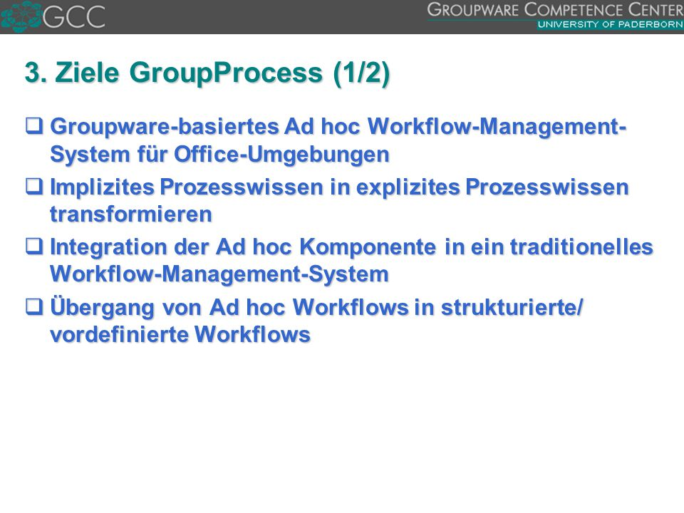 3. Ziele GroupProcess (1/2)