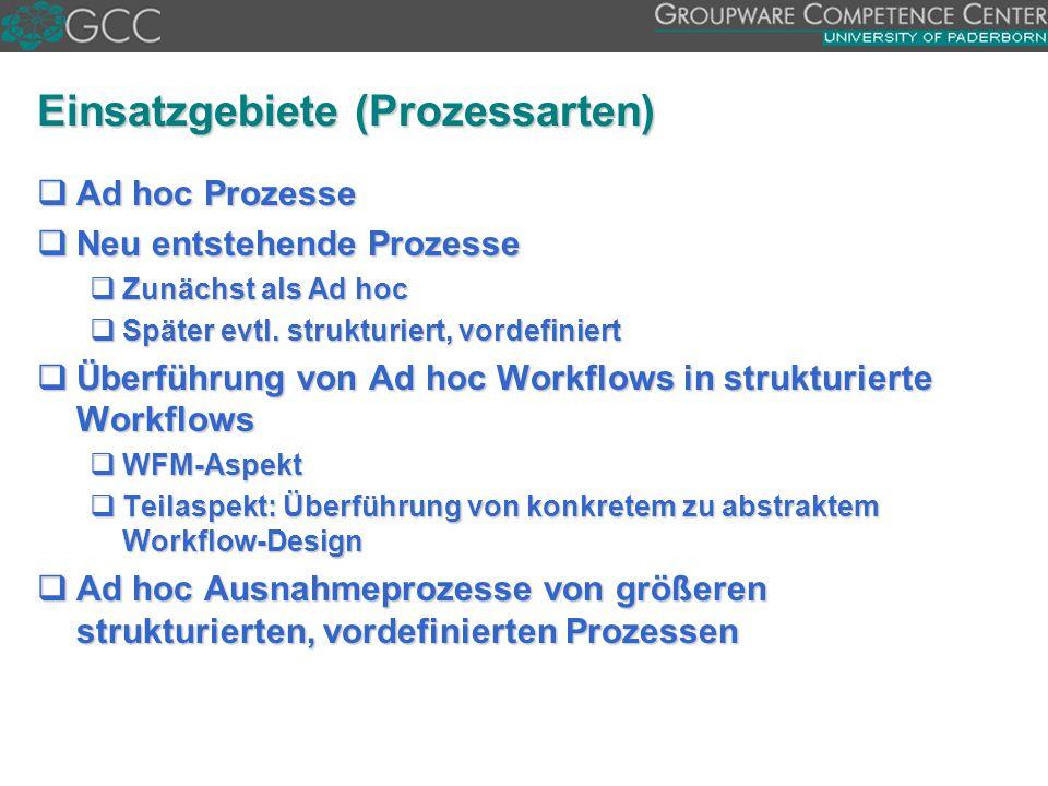 Einsatzgebiete (Prozessarten)