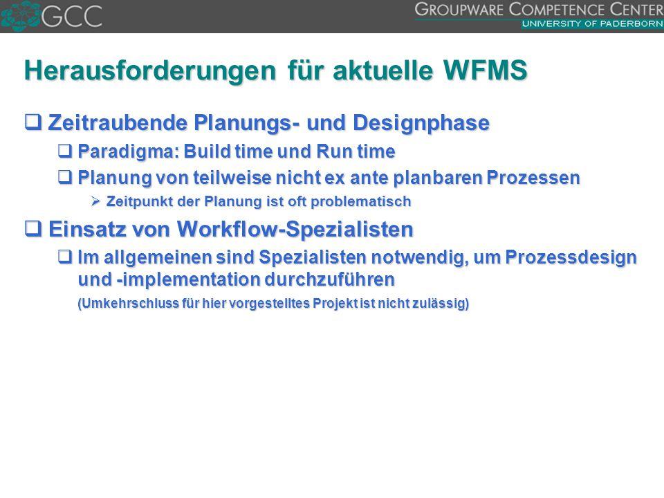 Herausforderungen für aktuelle WFMS