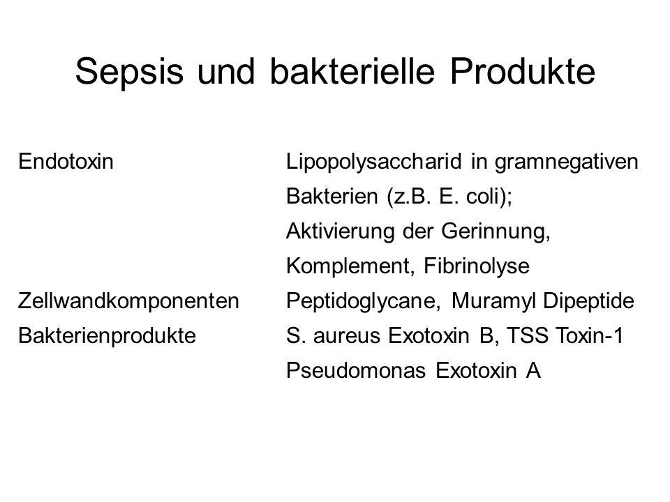 Sepsis und bakterielle Produkte