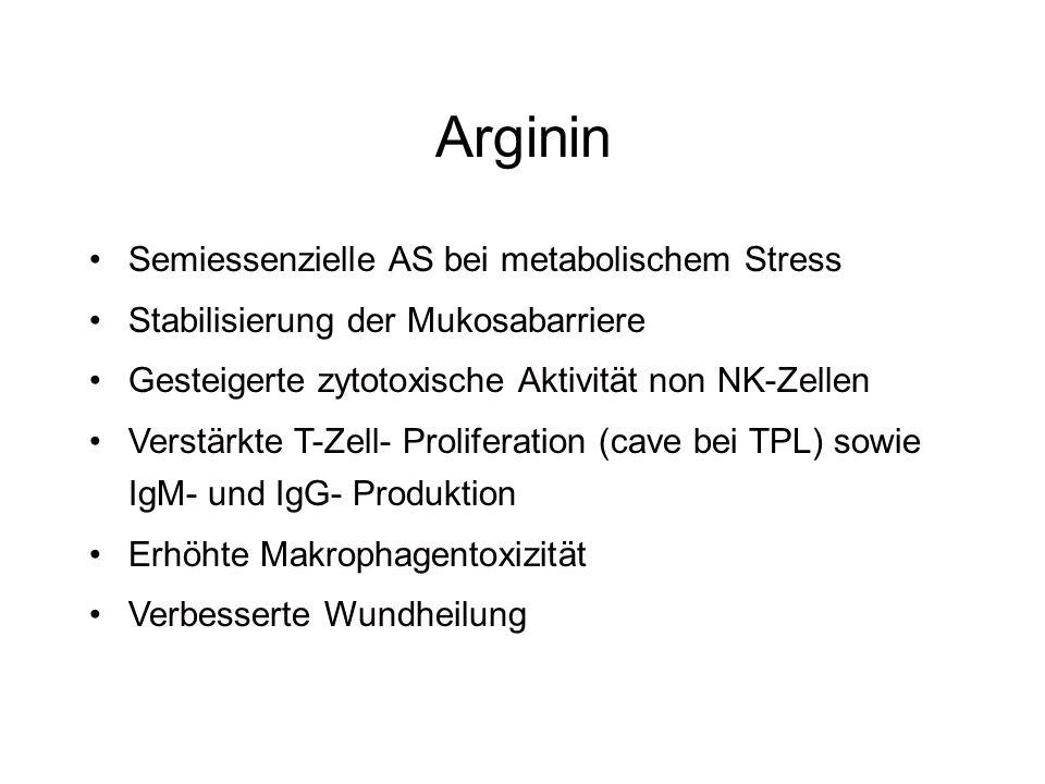 Arginin Semiessenzielle AS bei metabolischem Stress