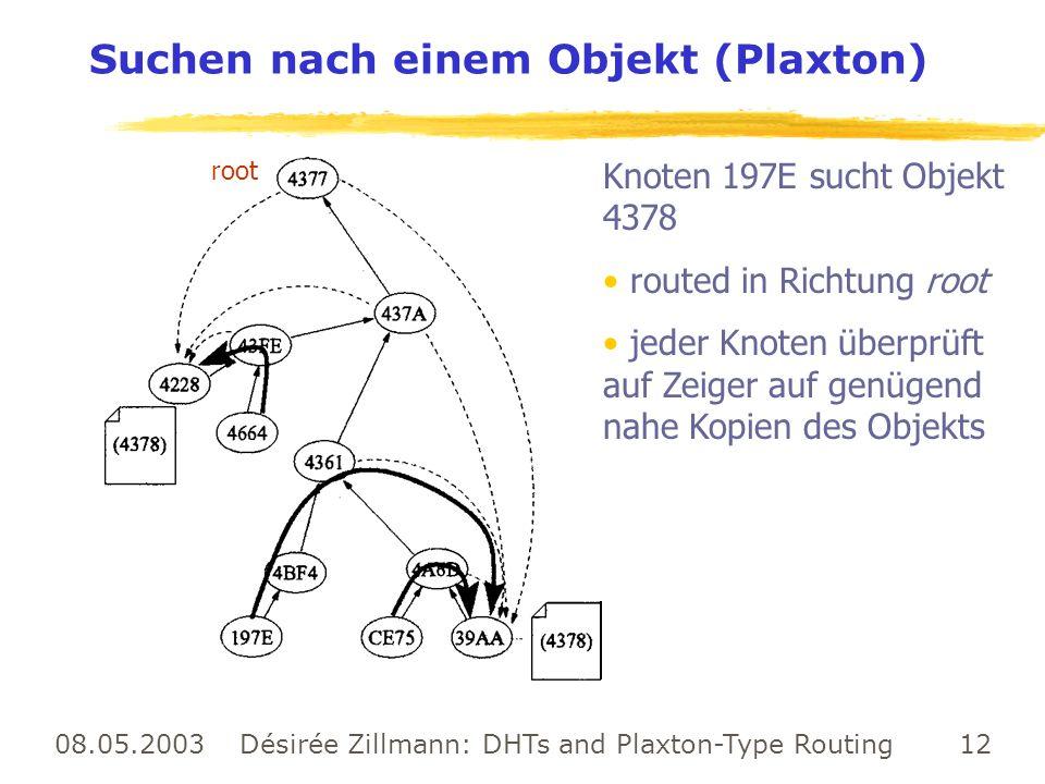 Suchen nach einem Objekt (Plaxton)