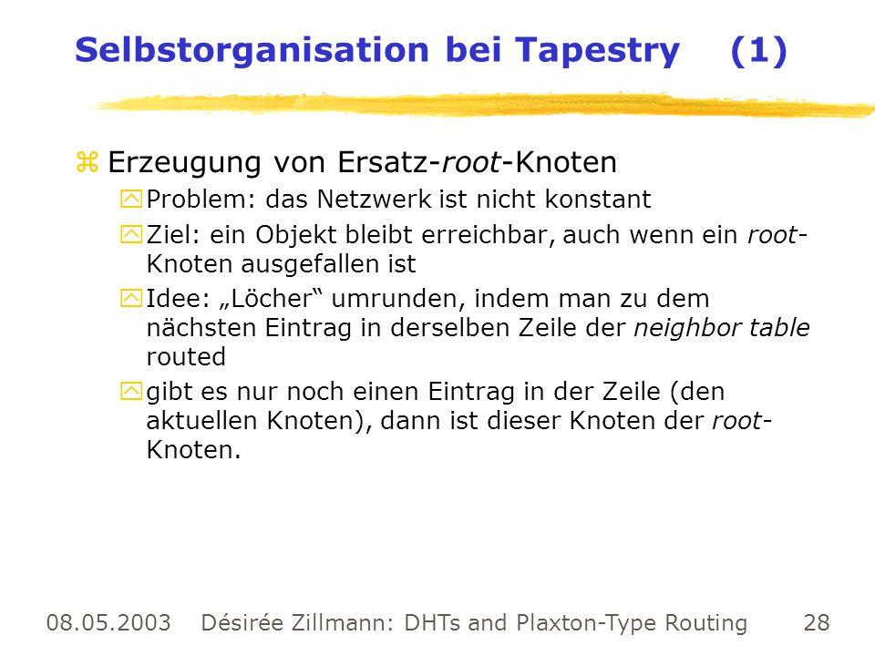 Selbstorganisation bei Tapestry (1)