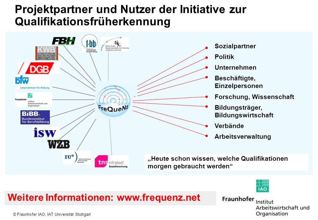 Projektpartner und Nutzer der Initiative zur Qualifikationsfrüherkennung