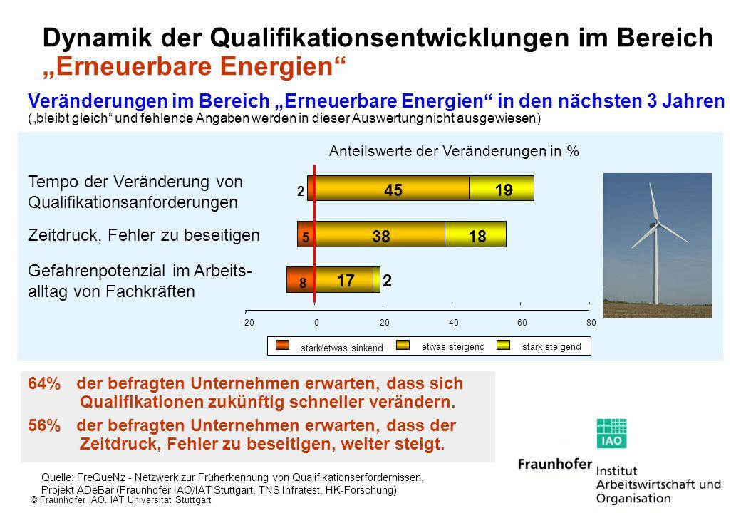 """Dynamik der Qualifikationsentwicklungen im Bereich """"Erneuerbare Energien"""