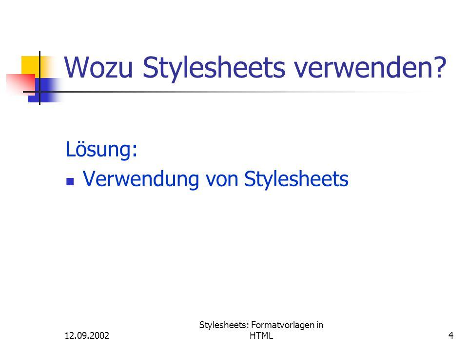 Wozu Stylesheets verwenden