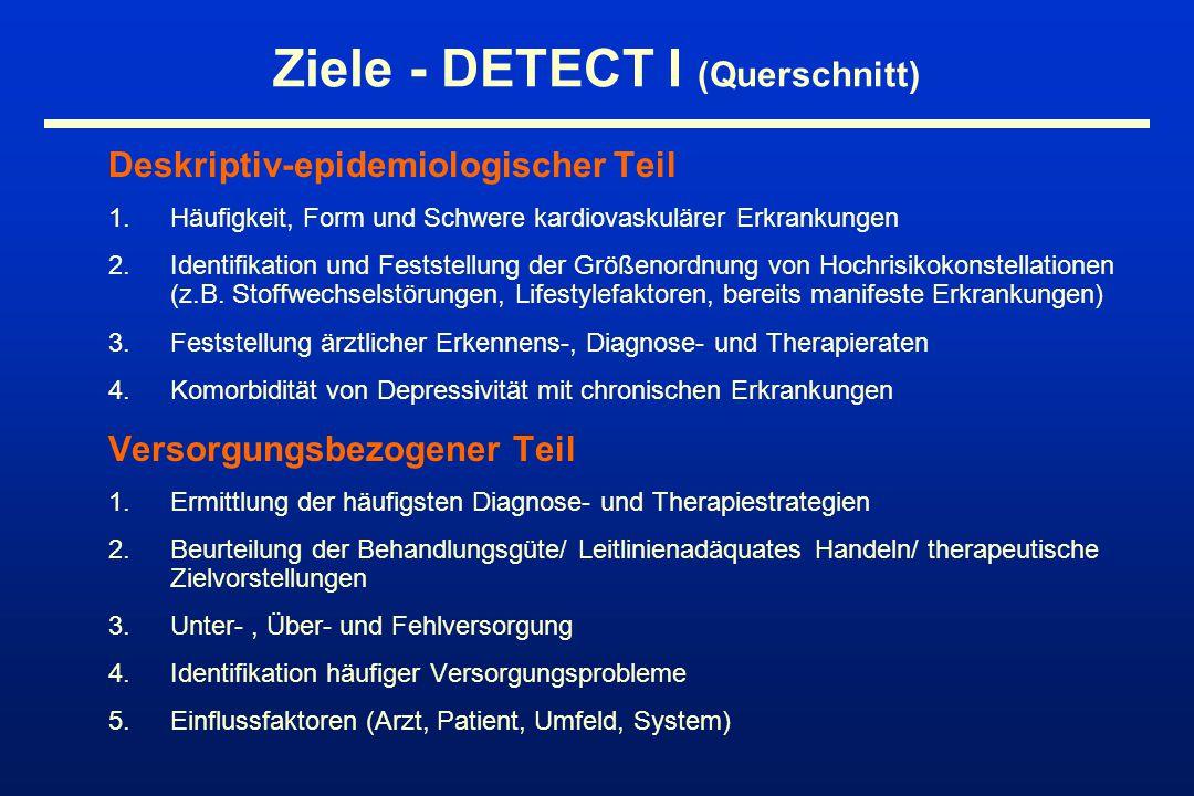 Ziele - DETECT I (Querschnitt)