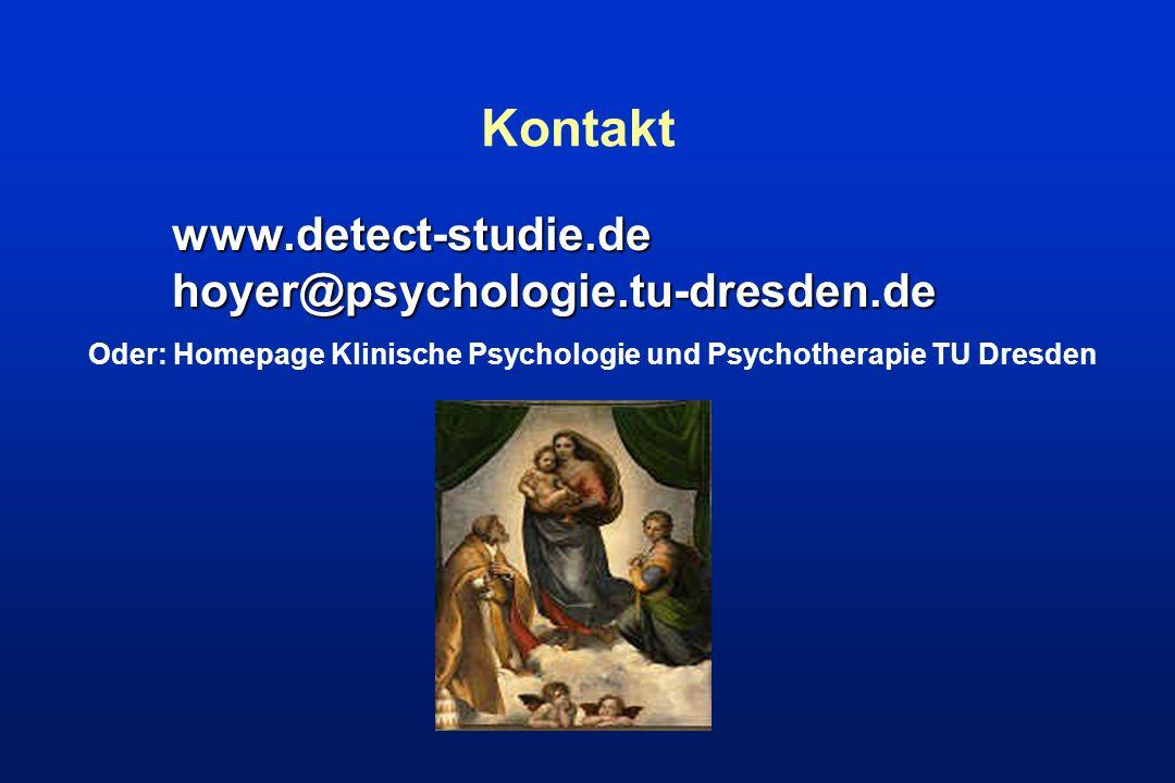 Oder: Homepage Klinische Psychologie und Psychotherapie TU Dresden