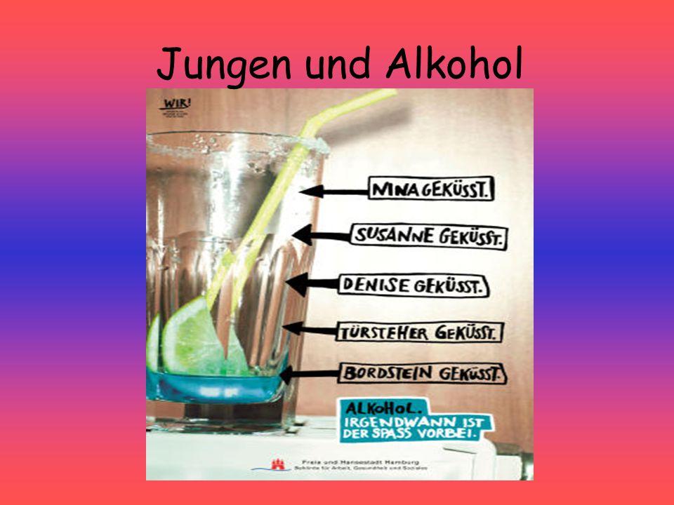 Jungen und Alkohol