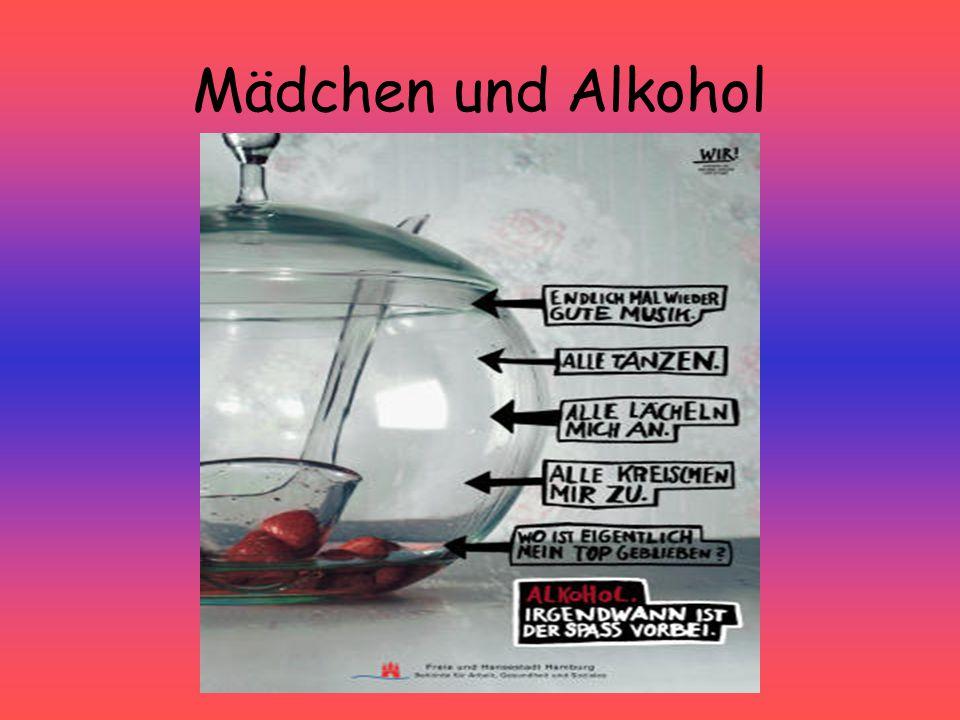 Mädchen und Alkohol