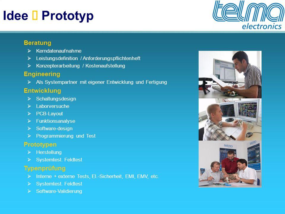 Idee è Prototyp Beratung Engineering Entwicklung Prototypen